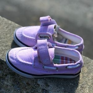 POLO Ralph Lauren Girls pink canvas sneaker sz 8